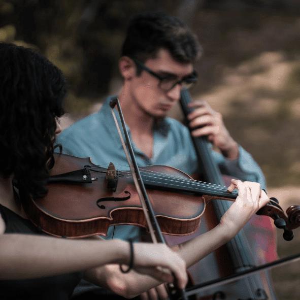 escola de música performance aula de violino